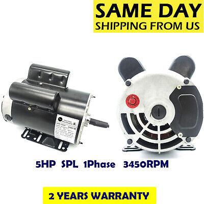 5hp Spl1phase 3450rpm Electric Air Compressor Duty Motor 56 Frame 58shaft 60hz