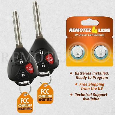 2 For 2006 2007 2008 2009 2010 Toyota RAV4 Remote Car Keyless Key Fob
