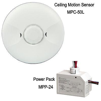 Low Voltage Ceiling Motion Sensor Pir Occupancy Switch 24vdc Power Pack Kit