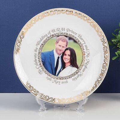 Porcelana Fina Boda Real 2018 Prince Harry / Meghan Markle 25.4cm Placa...