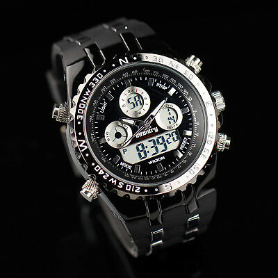INFANTRY Digital Quartz Mens Wrist Watch Date Day Chronograph Rubber Army Sport