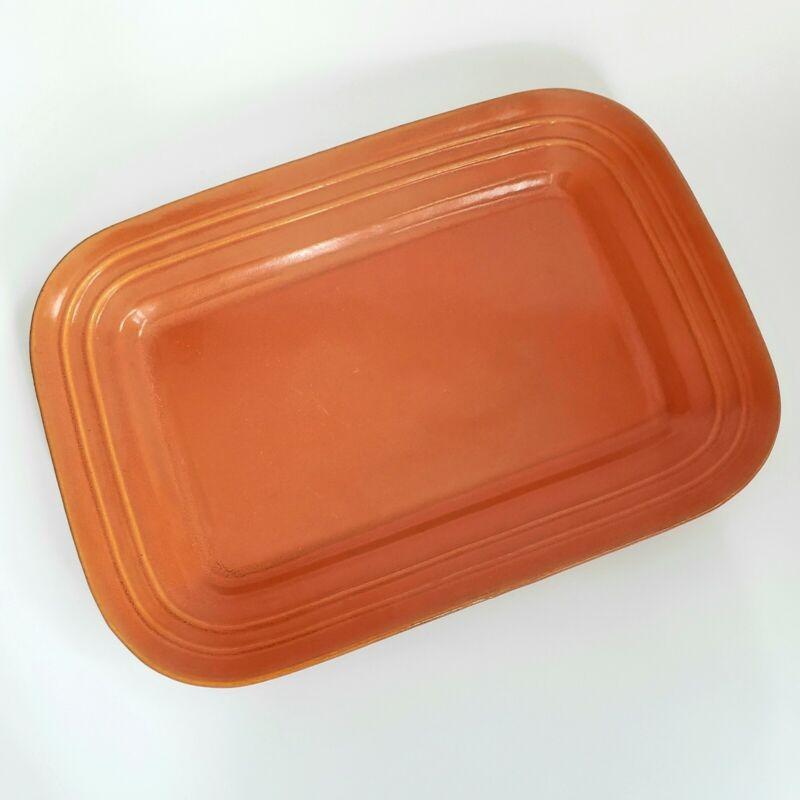 "Pacific Pottery Platter Tray 617 Apache Red Orange Hostessware Vintage 15"""