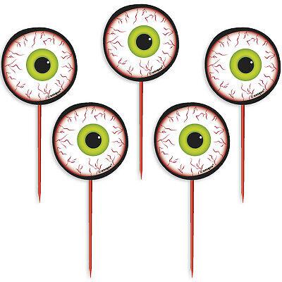 8 Halloween Horror Party Creepy Eyes Eye Ball Tableware Food Snack Picks](Creepy Halloween Foods)