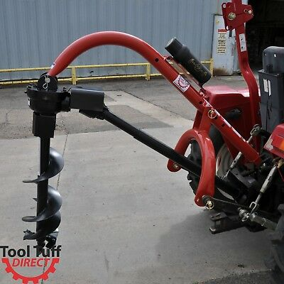 Pole-Star 400 3-Point Post Hole Digger for Compact/Subcompact/Cat 0 Tractor