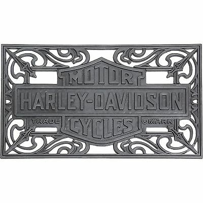 Harley-Davidson Classic Bar & Shield Outdoor Home Rubber Floor Entry Door Mat ()