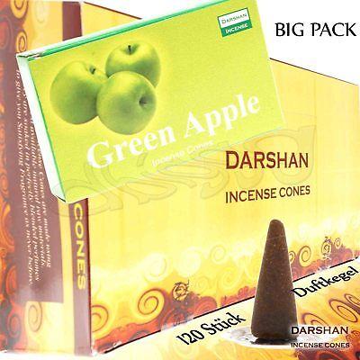GREEN APPLE von Darshan Räucher-KEGEL BIG PACK 12x 10 KEGEL