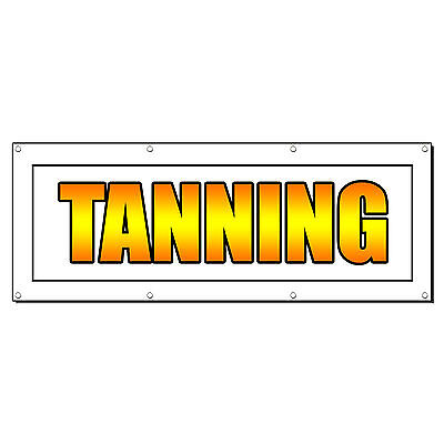 Tanning Promotion Business Sign Banner 4 X 2 W 4 Grommets
