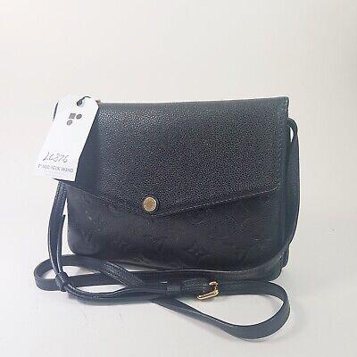 Auth Louis Vuitton Twice Monogram Empreinte Noir M50258 Genuine Shoulder LC876