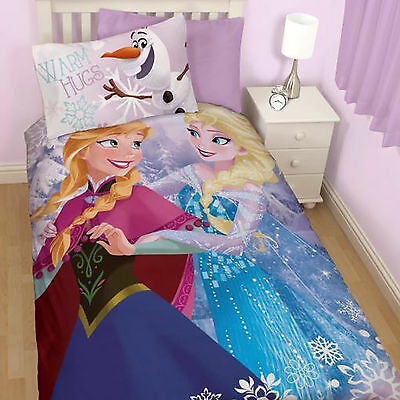 Disney Frozen Elsa Crystal Girls Single Duvet Quilt Cover Bedding Set