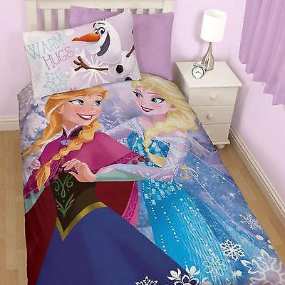 Disney Frozen Elsa Crystal Girls Single Duvet Quilt Cover Bedding Set