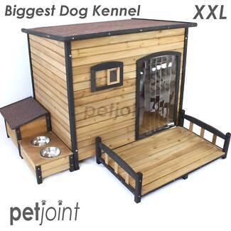 XXL Biggest Dog House Melbourne Greyhound Rottweiler Wood Kennel
