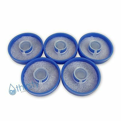 Lot of 5, 3 & 5 Gallon Water Bottle Snap On Caps Anti Splash 55mm Lid Tops New