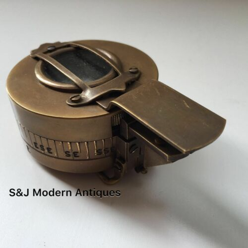 Antique Military Compass Vintage Brass WWII Replica 1940 Navigation Mark 3 Gift