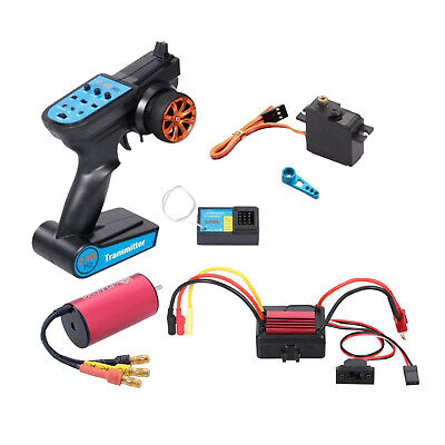 Car Parts - Brushless Motor ESC Remote Controller Set for WLtoys A959-B RC Car Parts