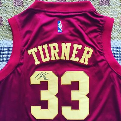 24db43336bba Myles Turner Signed Autograph Indiana Pacers Jersey NBA Texas UT
