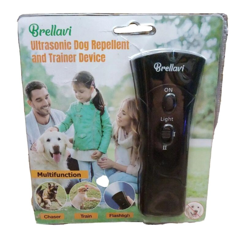 Brellavi Dog Repellent and Trainer Device Multifunction with LED Flashlight