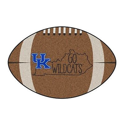 """Kentucky Wildcats Southern Style 22"""" X 35"""" Football Shaped Area Rug"""