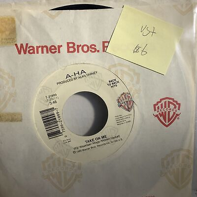 A-Ha Take On Me- Warner Bros Back To Back 7-21999 VG+ New Wave 45 Record