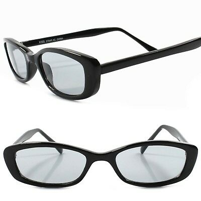 Classic True Vintage 80s 90s Deadstock Urban Fashion Black Rectangle Sunglasses