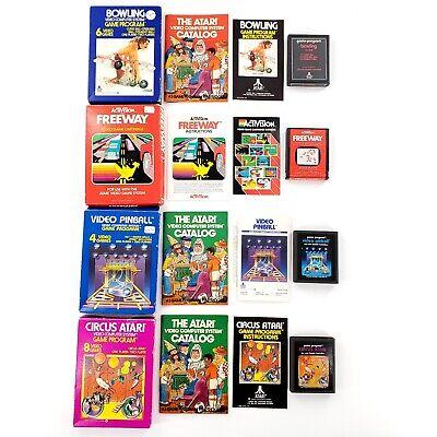Atari 2600 Games Lot Of 4 Complete In Box Freeway Bowling Circus Video Pinball