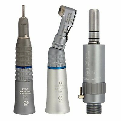 Dental Low Speed Contra Angle Straight Handpiece Air Motor Set Nsk Ex203