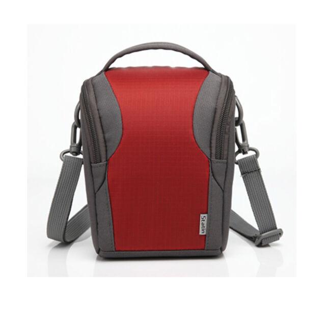 Red Nylon Shoulder Camera Case For Fuji FinePix S4200 S4400 S4500EXR