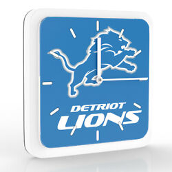 New 3 in 1 NFL Detroit Lions Home Office Decor Wall Desk Magnet Clock 6