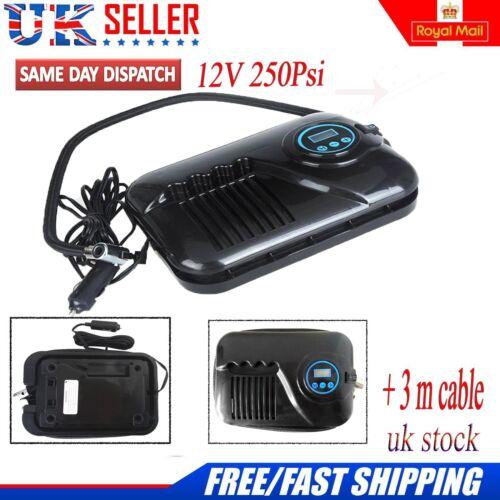 Digital Gauge 12v Car Van Tyre Inflator Pump Electric Air Auto Compressor Uk