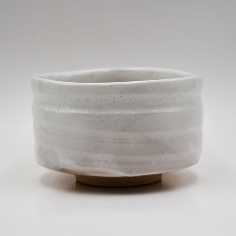Japanese Handcrafted Ishi Stone White Matcha Tea Bowl
