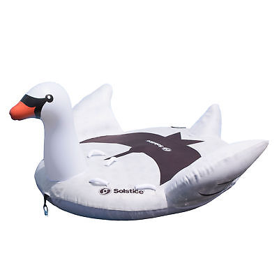 Swimline Solstice Water Sport Inflatable Swan 1 to 2 Rider Boat Towable (Solstice Sports)