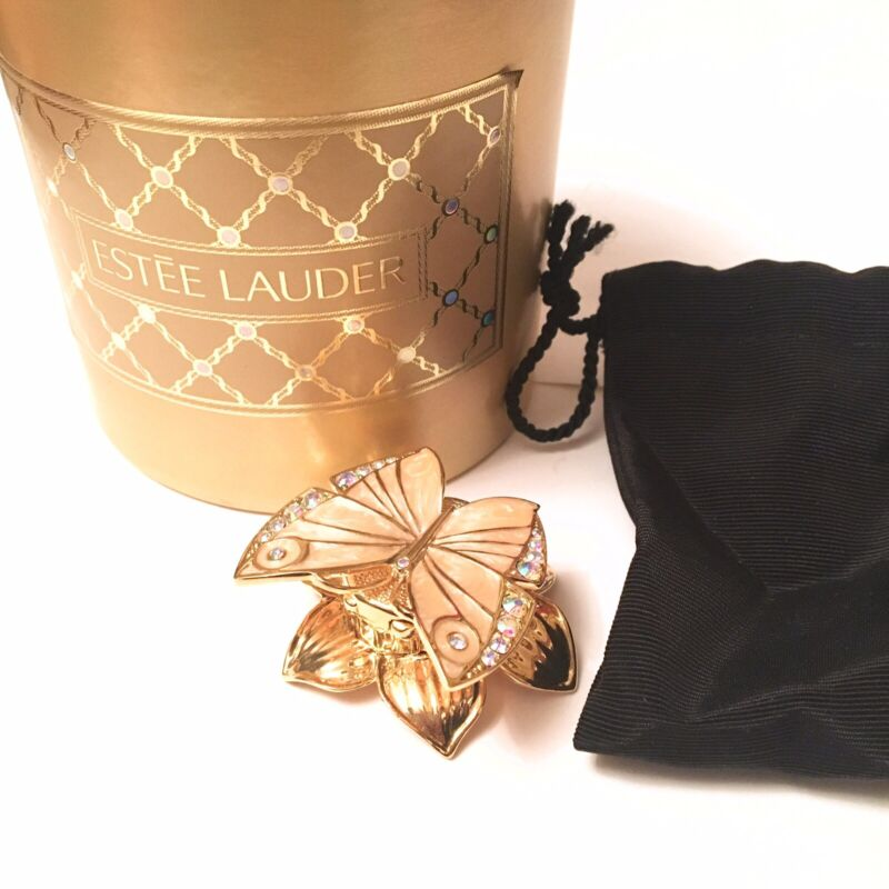 2000 Estee Lauder Enchanted Butterfly Beautiful Solid Compact BOX