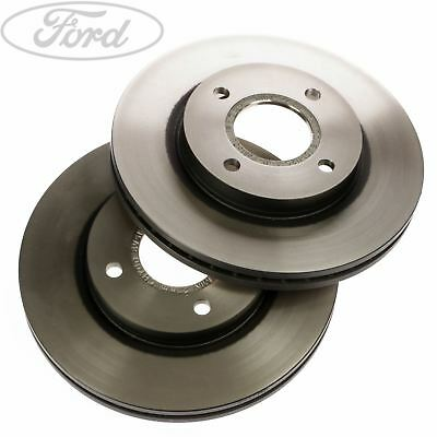 Genuine Ford Front Fiesta Mk7 Front Brake Discs Pair 258mm Vented x2 1679853
