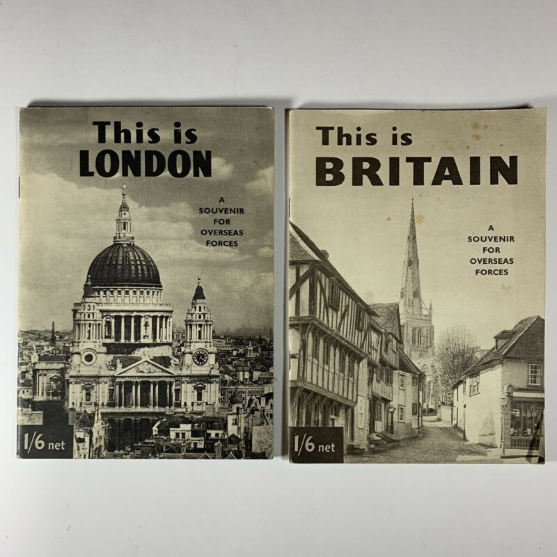 THIS IS BRITAIN / LONDON A Souvenir For Overseas Forces Only WWII Booklet Lot