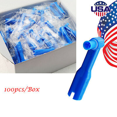 100pcs Usa Disposable Supplies Dental Prophy Angles With Soft Cup Latex Blue