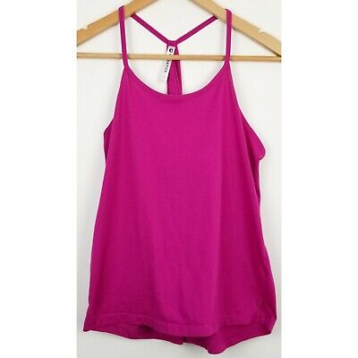 Fabletics womens swing tank top small pink racerback pullover active wear
