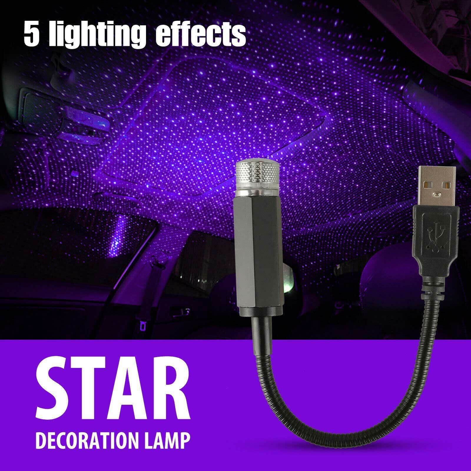 USB Car Interior Roof LED Star Light Atmosphere Starry Sky Night Projector Lamp Car & Truck Parts