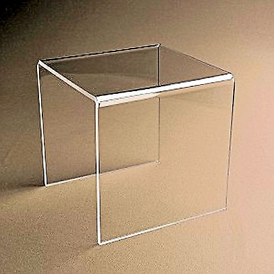 1 Clear Acrylic Plastic Risers Display Stand Pedestal 4 X 4 X 4