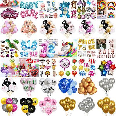 Folienballons Tier Buchstaben Zahlen Heliumballons Luftballons Party Geburtstag ()