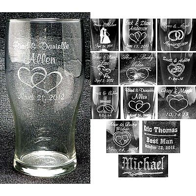 Personalized Tumbler Glasses Custom Wedding Party Groomsmen Anniversary Gifts (Custom Party Glasses)