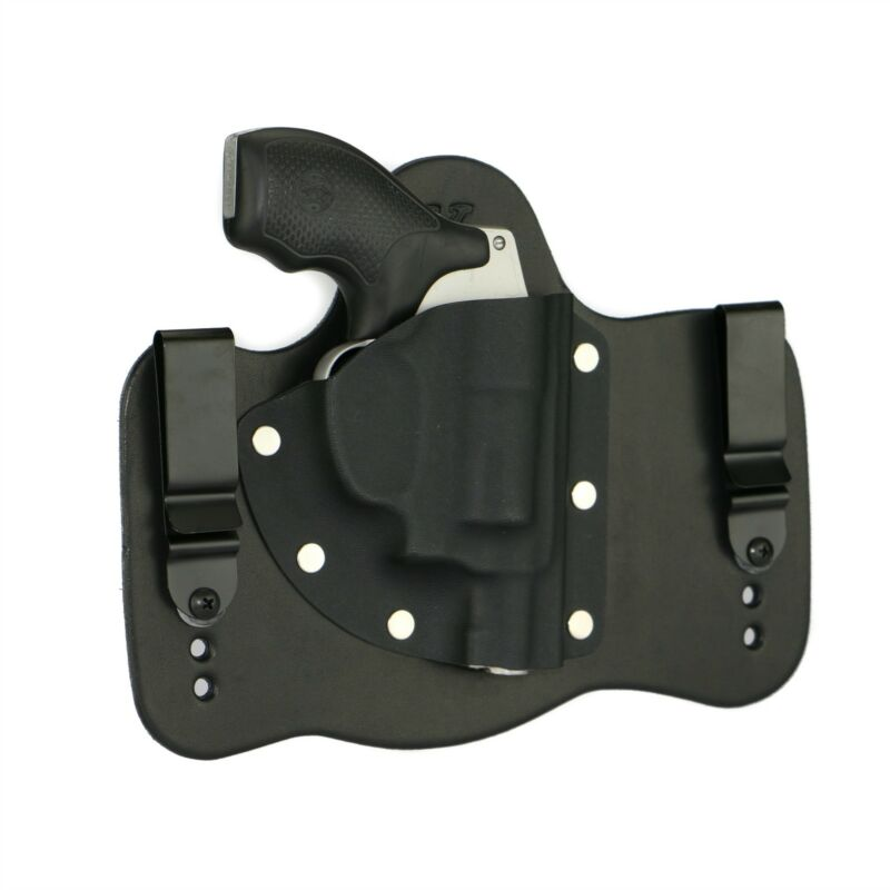 FoxX Leather & Kydex IWB Hybrid Holster Smith & Wesson J-Frame Revolver RH Black