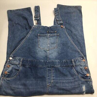 Vintage Overalls & Jumpsuits American Rag Cie Blue Denim Distressed Bib Overalls Womens Size 18W $19.99 AT vintagedancer.com