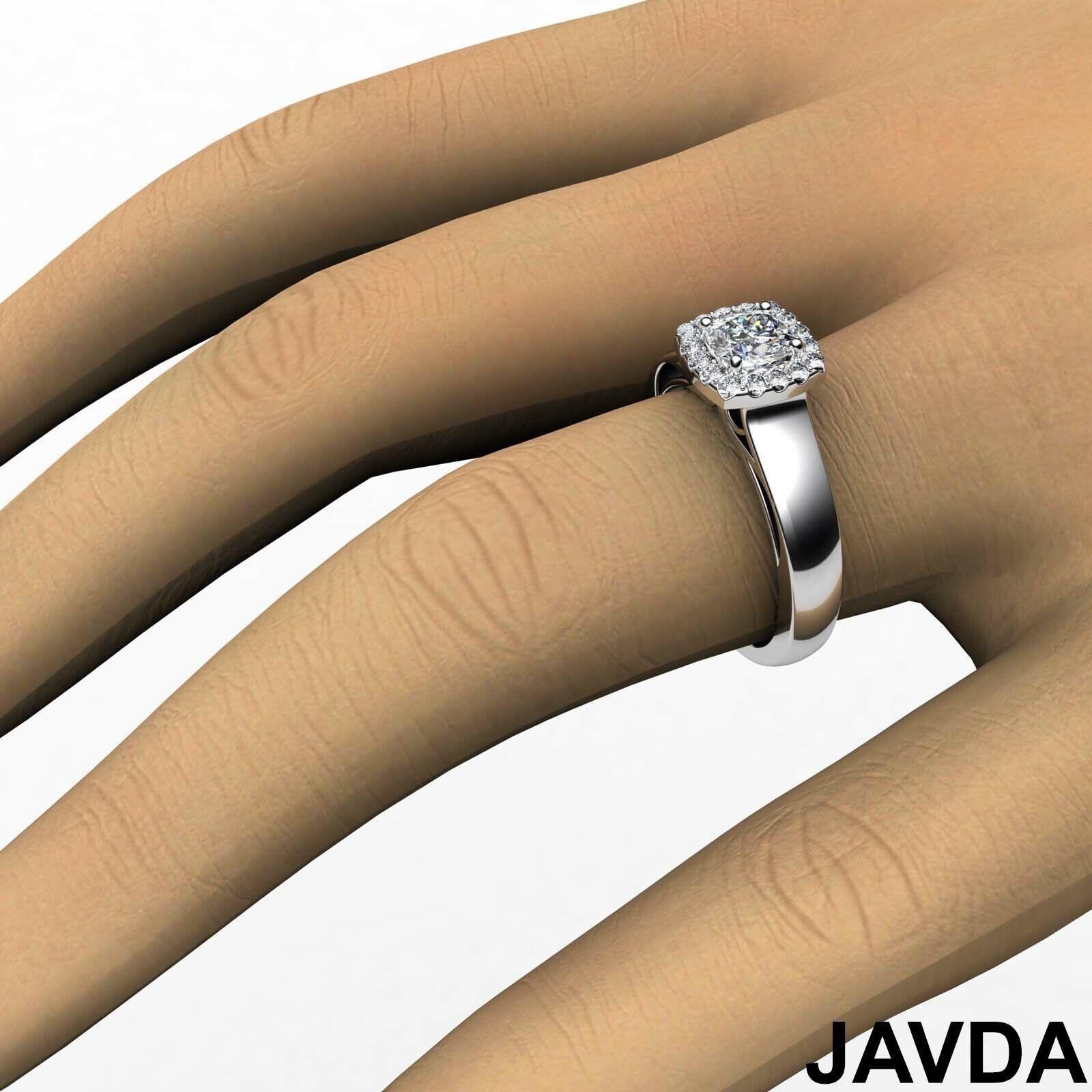 Filigree Shank U Cut Prong Cushion Diamond Engagement GIA H Color VS1 Ring 0.7Ct 3