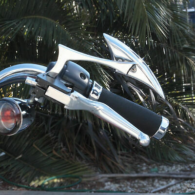 Motorcycle Chrome Spear Mirrors to fit Harley Davidson Handlebar Mount