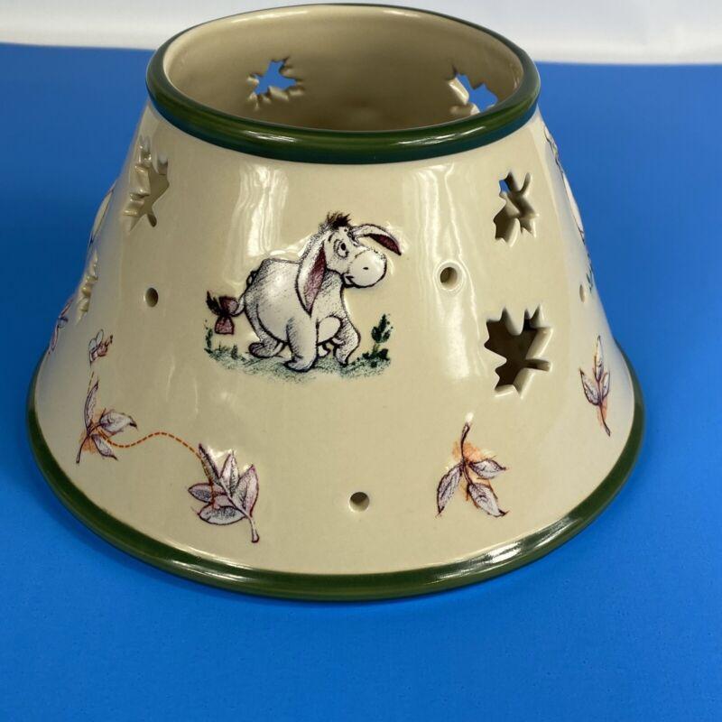 "DISNEY WINNIE THE POOH & FRIENDS CERAMIC JAR CANDLE ""LAMP SHADE"" TOPPER"