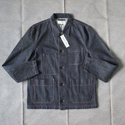 Alex Mill Raw Denim Chore Coat Worker Jacket Mens L Large Railroad Selvedge NWT