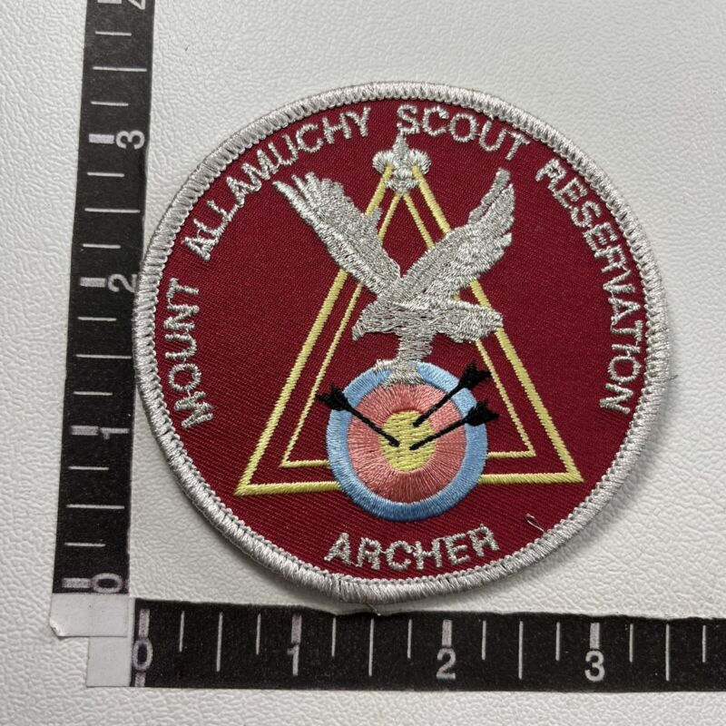 Boy Scouts Patch MOUNT ALLAMUCHY SCOUT RESERVATION ARCHER 85N4