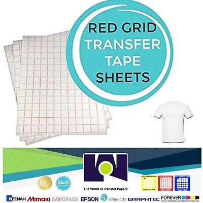 INKJET TRANSFER PAPER RED GRID IRON ON FOR LIGHT FABRICS T SHIRT  50 PK A4 Size for sale  Miami