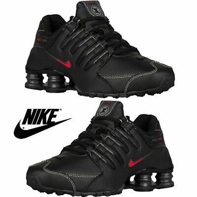 NIB NEW Men's Nike SHOX NZ Running Shoes Torch Sneakers  Black Red