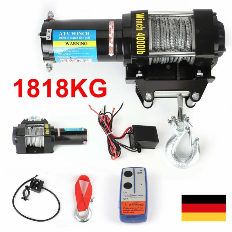 12V Elektrische Seilwinde Motorwinde Offroad 12 Volt 1818kg Funkfernbedienung