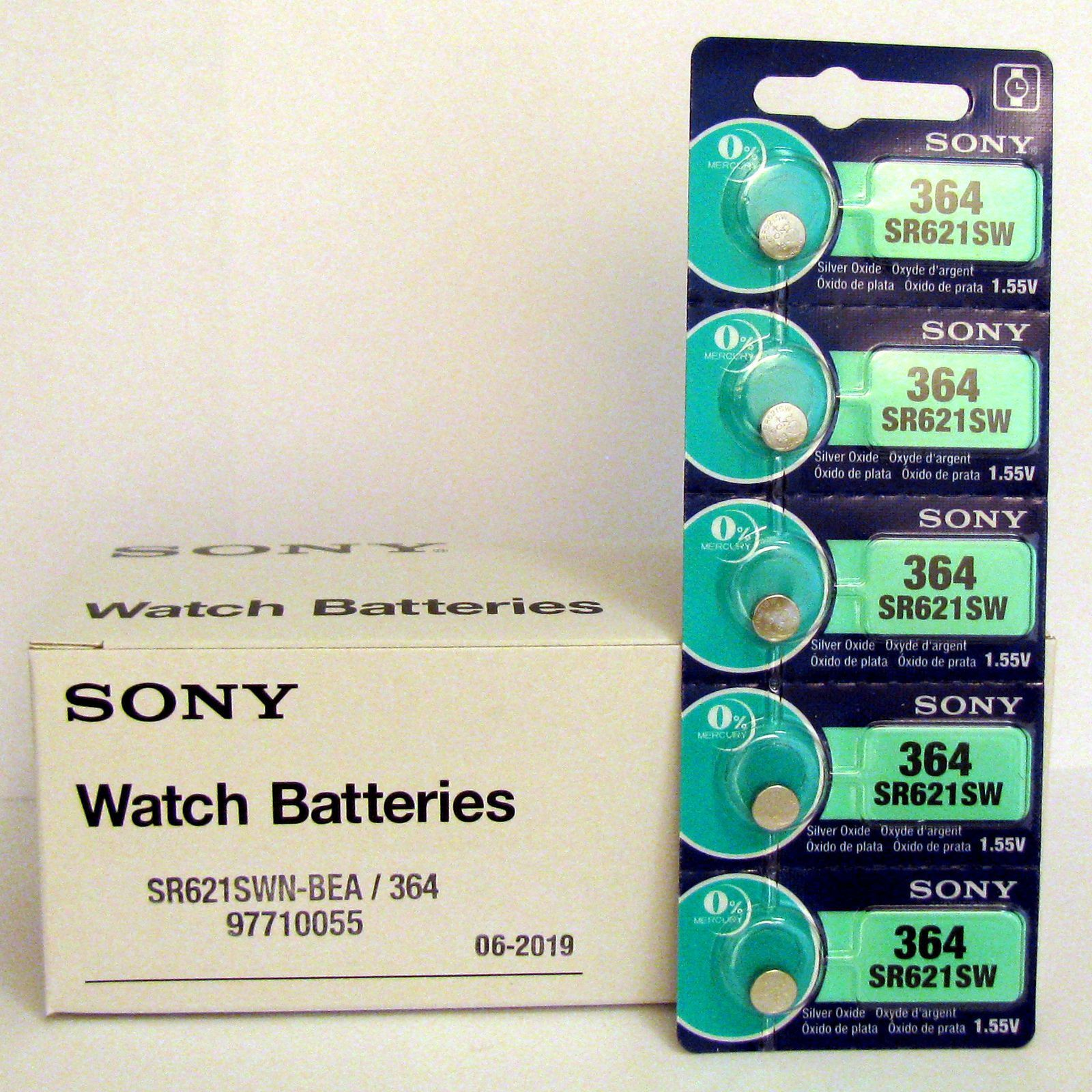 5 NEW SONY 364 SR621SW SR621 V364 LR621 SR60 Watch Battery EXP 09-2020 - FRESH